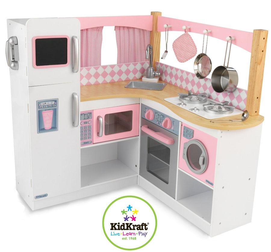 test cuisine enfant kidkraft 53185 coin cuisine de gastronome cuisine enfant en bois. Black Bedroom Furniture Sets. Home Design Ideas