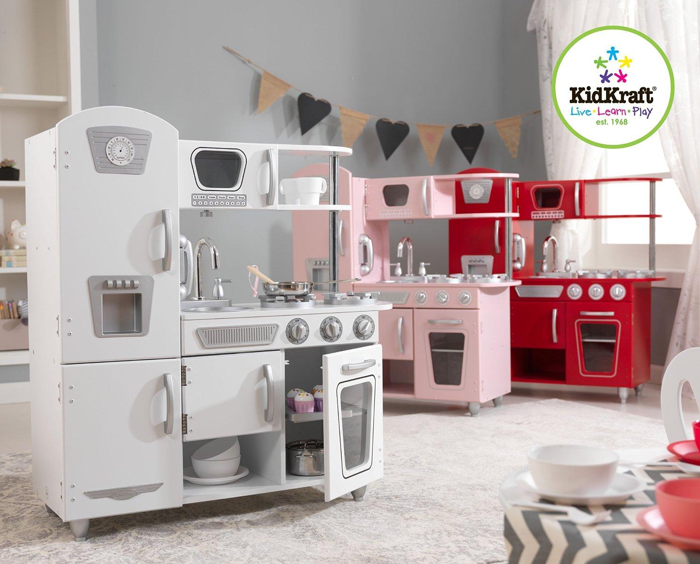 test cuisine enfant kidkraft 53173 cuisine d 39 imitation vintage rouge cuisine enfant en bois. Black Bedroom Furniture Sets. Home Design Ideas