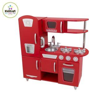 Cuisine jouet en bois Kidkraft vintage rouge